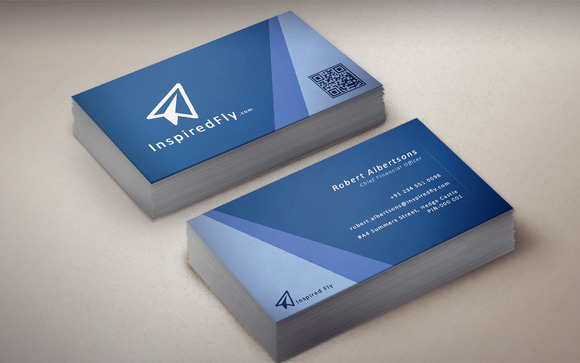 Waves Horizontal Business Card