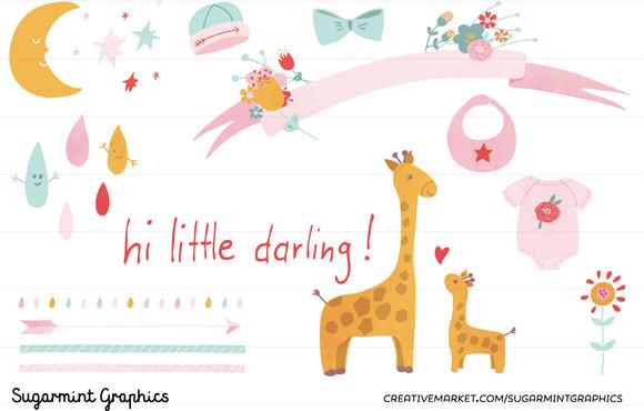 Clip Art Baby Shower Girl Commercial