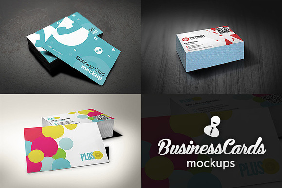 European Size Business Cards Mockups