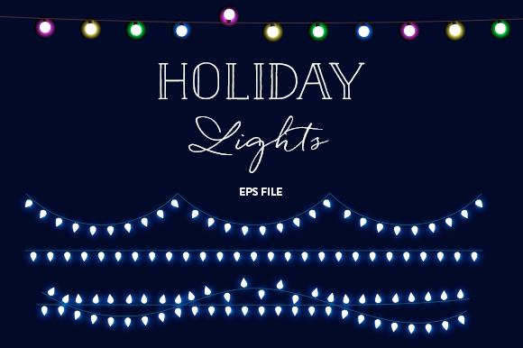 Christmas Lights Collection EPS