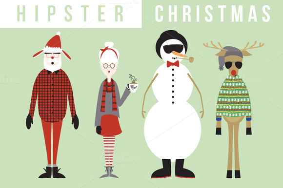 Hipster Christmas Collection