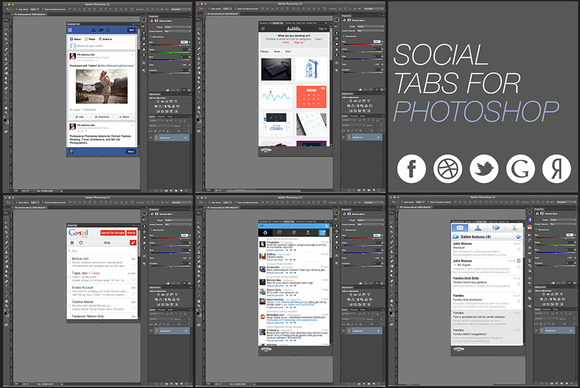 Social Tabs For Photoshop