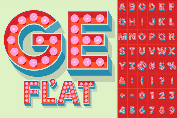 Illustration Of Flat Lamp Alphabet 1