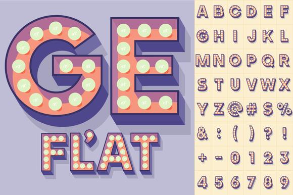 Illustration Of Flat Lamp Alphabet 4