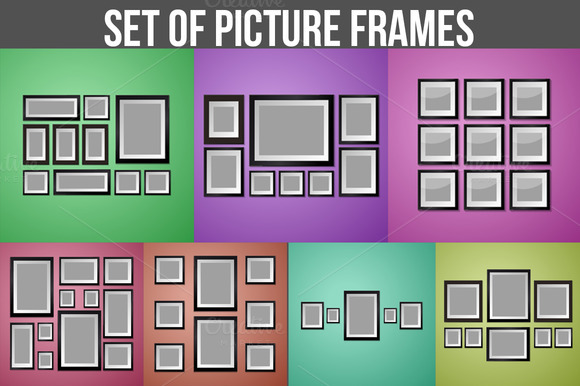 Set Of Diffirent Picture Frames