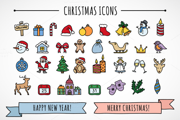 Chriatmas Icons Patterns