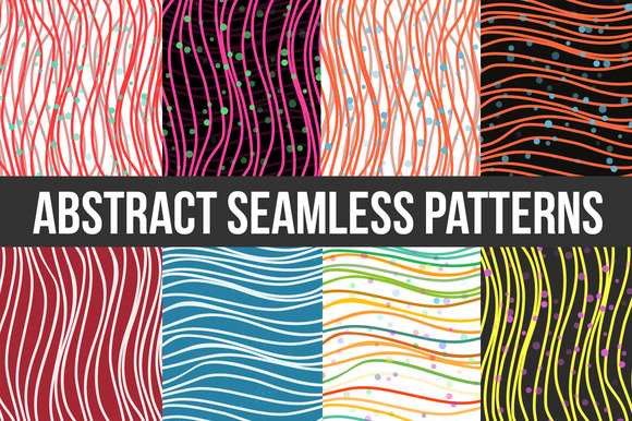 Abstract Striped Seamless Pattern V