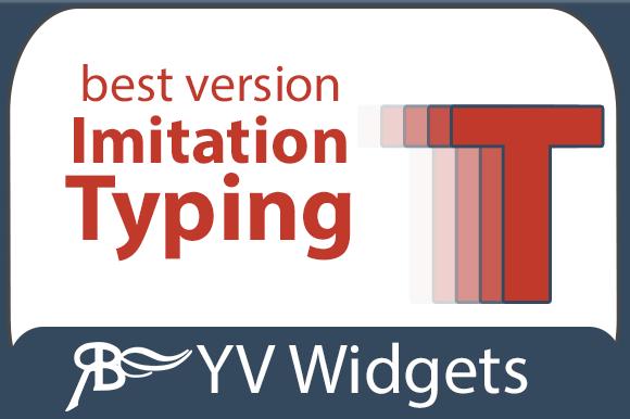 Imitation Of Typing Widget AM