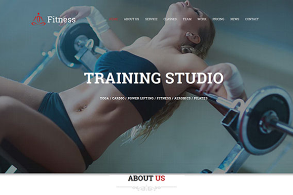 Fitness Sport Center Gym Template