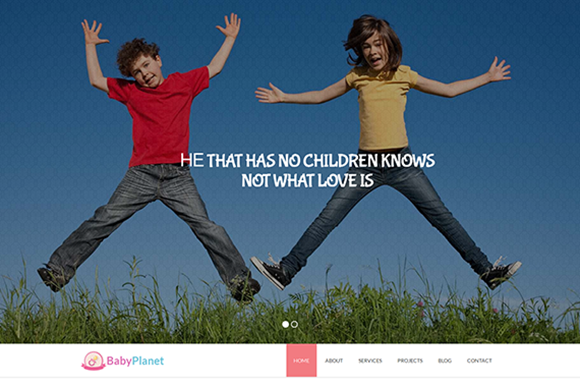 Baby Planet Kids HTML Theme