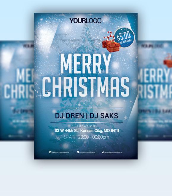 Merry Chrsitmas 2015 Flyer PSD