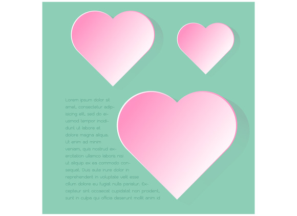 Simply Infographic Pink Heart Symbol