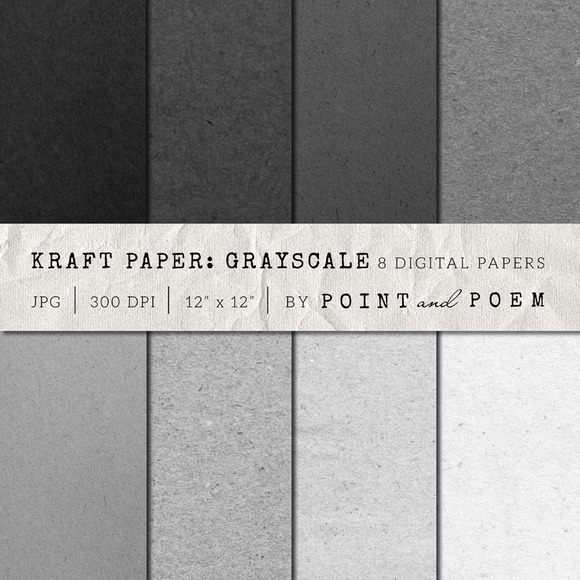 Kraft Paper Texture Pack Grayscale