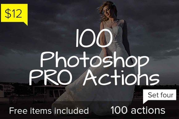 100 Photoshop Pro Actions Set 4