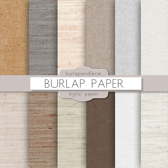 Burlap Linen Digital Paper