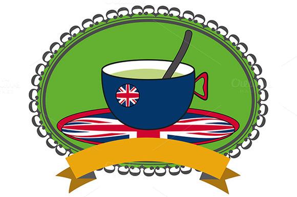 Tea Cup With Union Jack Flag Design