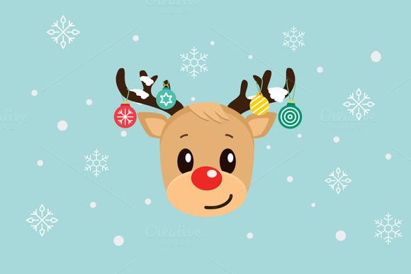 12 Cute Reindeers