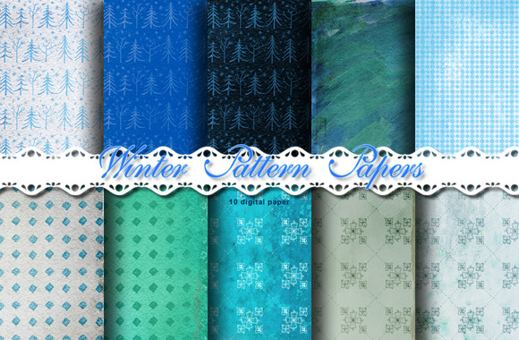Winter Pattern Papers