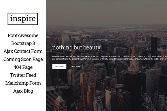Inspire One Page Html5 Template