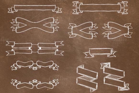 20 Handrawn Overlay Ribbons