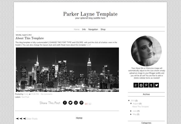 Blogger Template Grey Blog Design