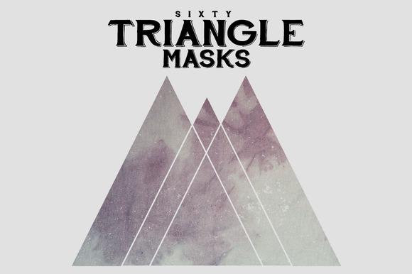 60 Triangle Shape Masks