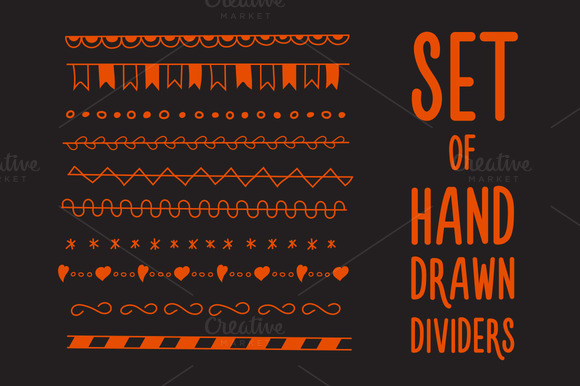 Set Of Hand Drawn Dividers