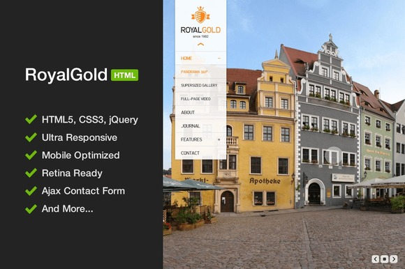 RoyalGold Unique HTML5 Template