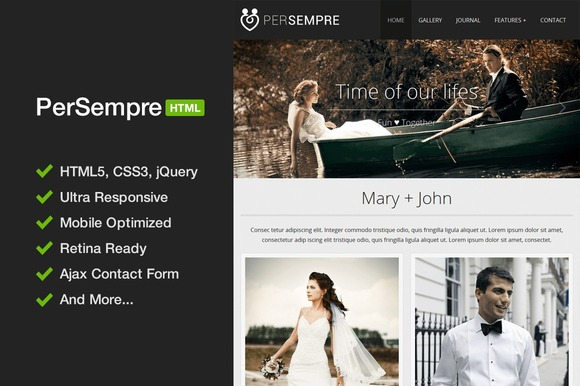 PerSempre Minimal HTML5 Template