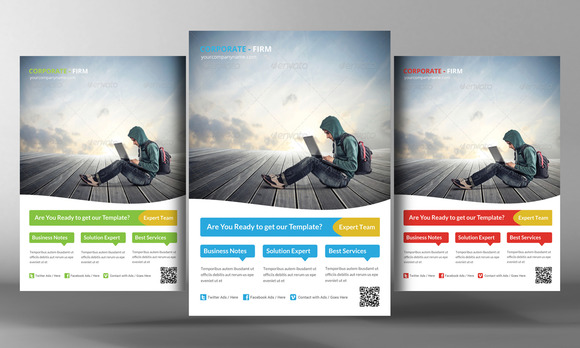 Metro Style Business Flyer Template