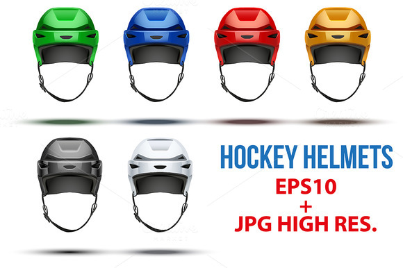6 Ice Hockey Helmets Bundle