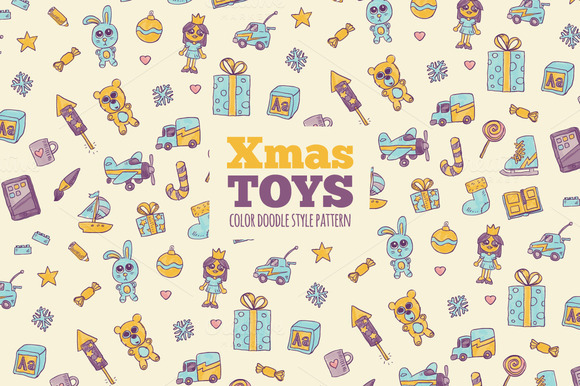 Xmas Toys Pattern