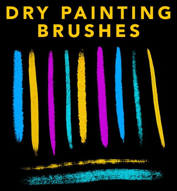 DRY PAINTING BRUSHES