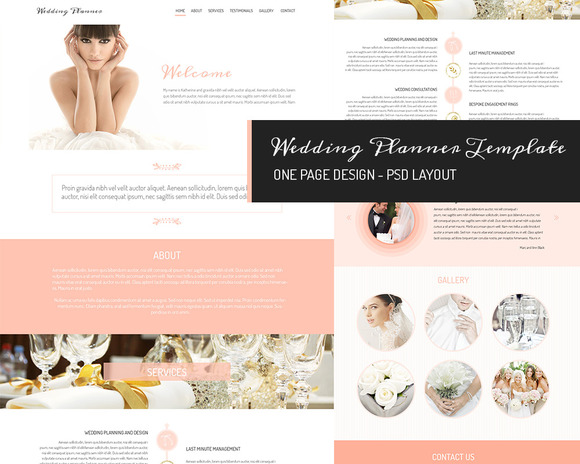 One Page Design Wedding Planner