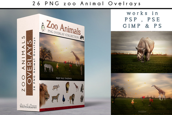 26 PNG Zoo Animal Overlays
