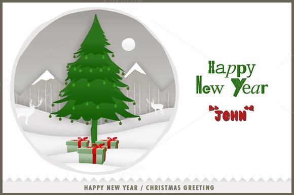 New Year Greeting Card Print