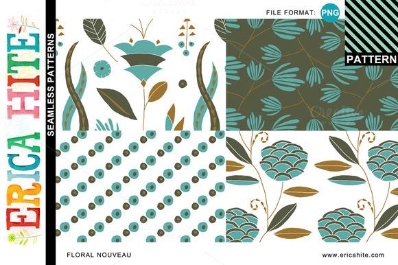 Floral Nouveau Patterns