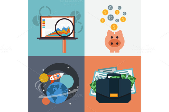 Seo Analysis Piggy Bank Space With