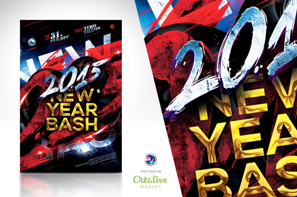 2015 New Year Bash Flyer Template