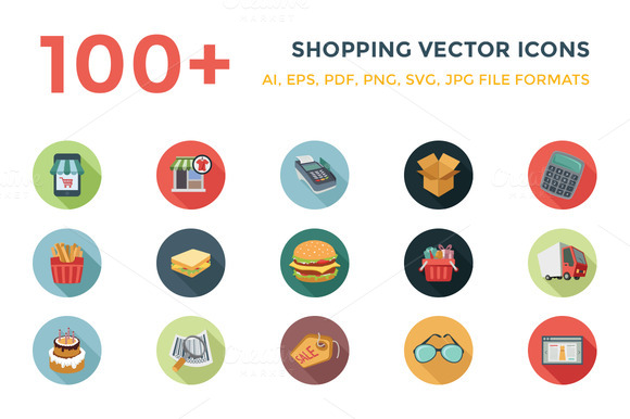 100 Shopping Vector Icons