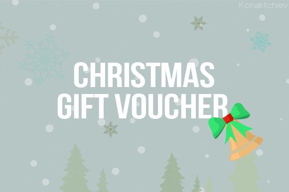 Flat Christmas Gift Voucher