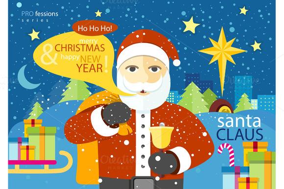 Happy Santa Claus Profession Series