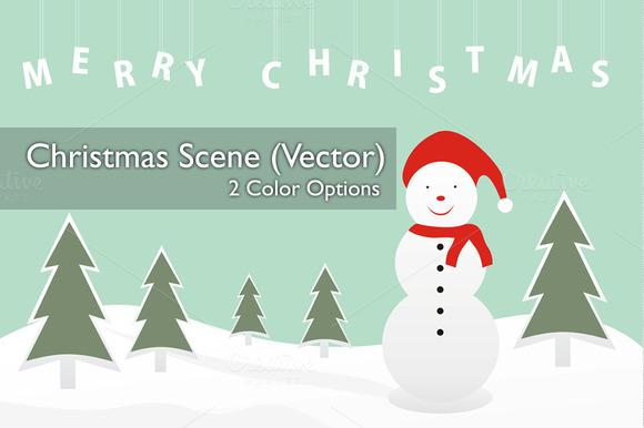 Christmas Scene Bg V2