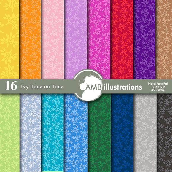 Ivy Tone On Tone Digital Papers 593