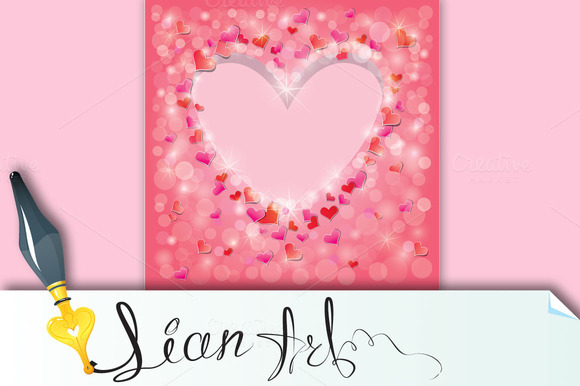 Valentine S Day Or Wedding Pink Back