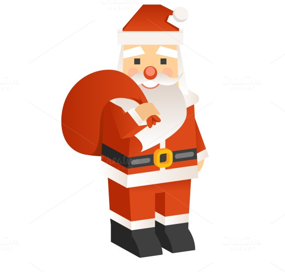 Santa Claus 3D Vector