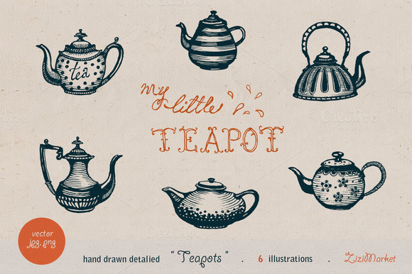 Teapots Drawings