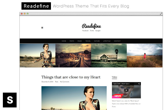 Readefine Minimal WordPress Theme