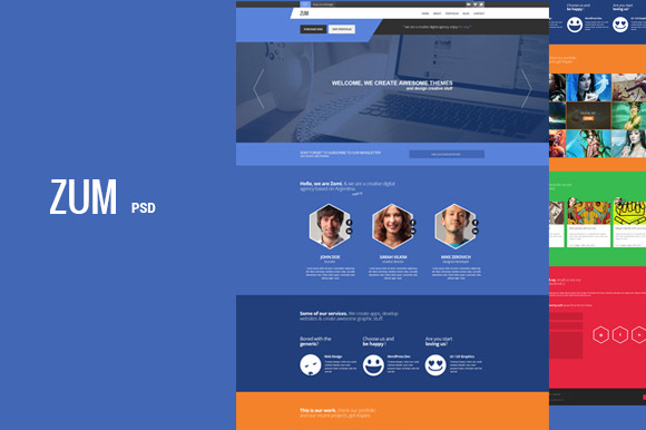Zum Creative PSD Template