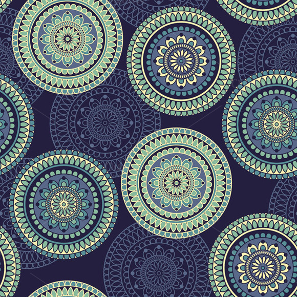 Vector Seamless Pattern With Rounded